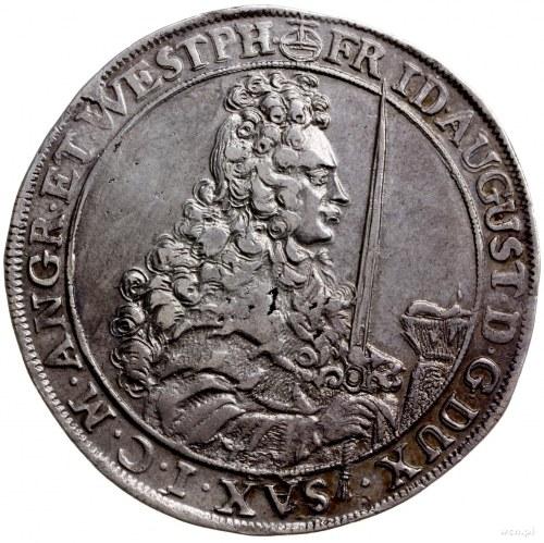 talar 1697 IK, Drezno; Kahnt 101, Merseb. 1385, Schnee ...