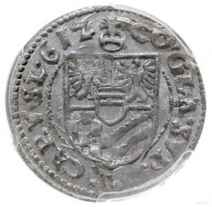 3 krajcary 1612, Oleśnica; odmiana z obwódką na awersie...