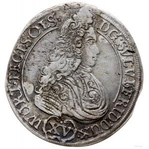 15 krajcarów 1694, Oleśnica; inicjały I.I.-T (wardajna ...
