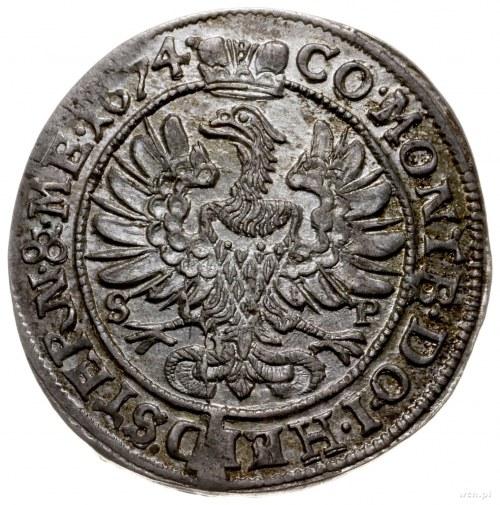 6 krajcarów 1674, Oleśnica; F.u.S. 2295, E.-M. 72; pięk...