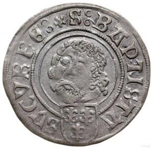 grosz 1507, Nysa; odmiana z datą 15-Λ po bokach tarczy ...
