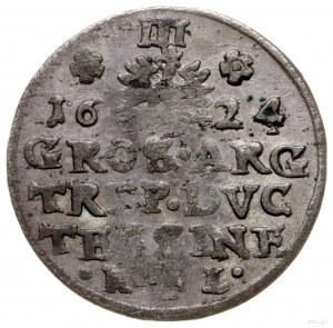 trojak 1624 HL, Cieszyn; u dołu rewersu inicjały H-L (m...