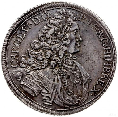 talar 1717, Wrocław; Aw: Popiersie w prawo, napis wokoł...