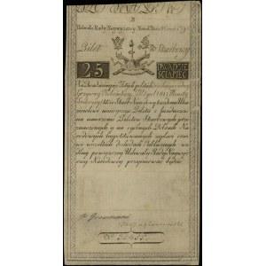 25 złotych polskich 8.06.1794, seria B, numeracja 31455...