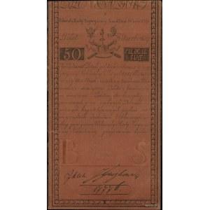 50 złotych polskich 8.06.1794, seria B, numeracja 17776...