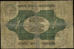 1 rubel srebrem 1851, seria 78, numeracja 4639932, podp...