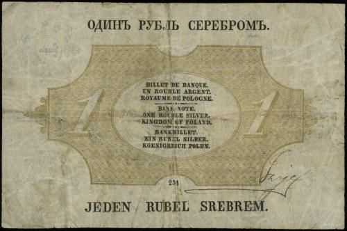 1 rubel srebrem 1866, seria 254, numeracja 15078710, po...
