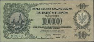 10.000.000 marek polskich 1923, seria AA, numeracja 567...