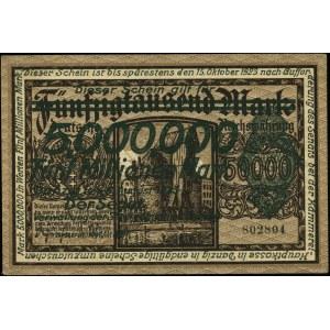 5.000.000 marek 8.08.1923, numeracja 802804; Miłczak G1...
