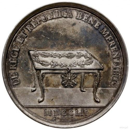 medal sygnowany Wermuth wybity w 1752 r. z okazji święt...