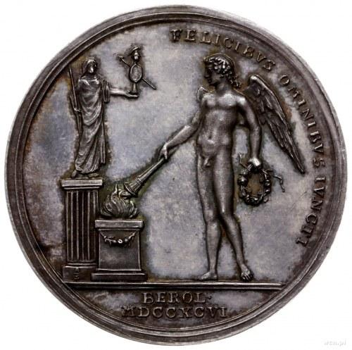 medal z 1796 roku autorstwa Abramsona (medaliera berliń...