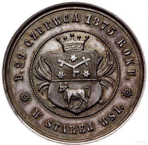 medal z 1875 r. nieznanego autora wybity na złote gody ...