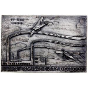 plakieta z zawodów aeroklubowych w Łodzi 17/05/1936; Dw...