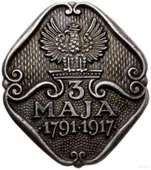 odznaka pamiątkowa z 1917 r. wydana przez Centralne Biu...