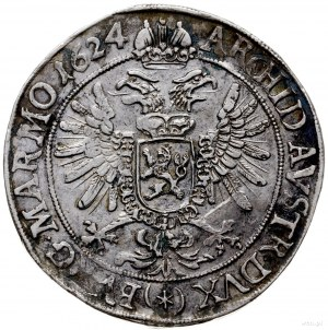 talar 1624, Praga; Aw: Stojąca postać cesarza w prawo n...