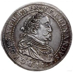 talar 1628, Graz; Aw: Popiersie cesarza w prawo, pod ni...