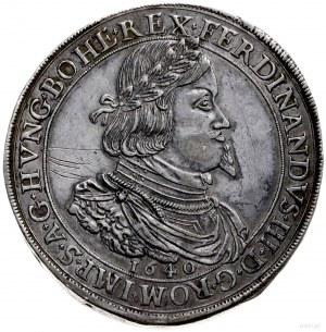dwutalar 1640, Graz; Aw: Popiersie w prawo, pod nim dat...
