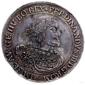 talar 1653, Wiedeń; Aw: Popiersie w prawo, pod nim data...