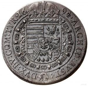 talar 1694, Hall; Aw: Popiersie w prawo z lwem na rękaw...