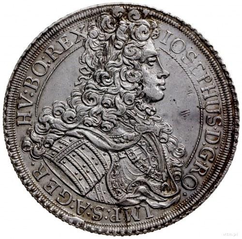 talar 1706, Wiedeń; Aw: Popiersie w prawo, wokoło napis...