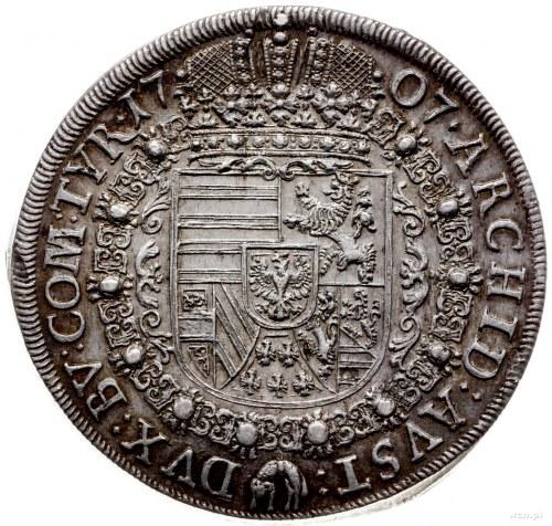 talar 1707, Hall; Aw: Popiersie w prawo i napis wokoło,...