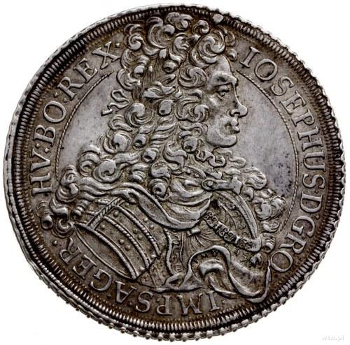 talar 1710, Wiedeń; Aw: Popiersie w prawo i napis wokoł...