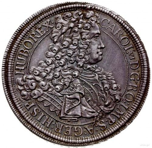 talar 1717, Wiedeń; Aw: Popiersie w prawo i wokoło napi...