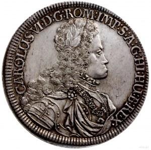 talar 1718, Hall; Aw: Popiersie w prawo i wokoło napis,...