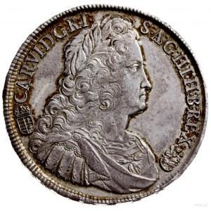 talar 1738, Krzemnica; Aw: Popiersie w prawo i napis wo...