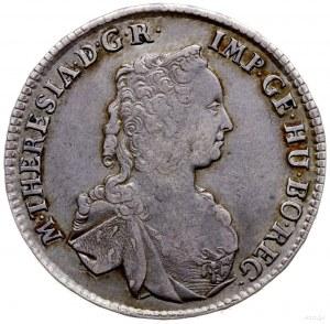 półtalar 1760, Wiedeń; Aw: Popiersie w prawo, wokoło na...