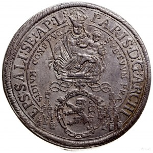 talar 1641, Salzburg; Aw: Madonna z dzieciątkiem i napi...
