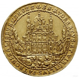 6 dukatów 1655, Salzburg; odmiana średnicy 36 mm; Aw: H...