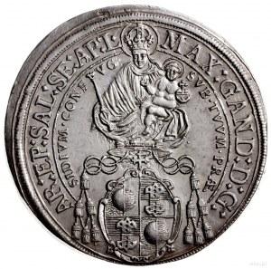 talar 1671, Salzburg; Aw: Madonna z dzieciątkiem i napi...