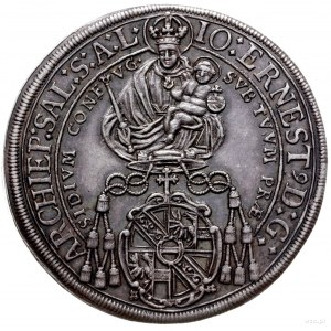talar 1694, Salzburg; Aw: Madonna z dzieciątkiem i napi...