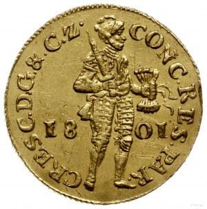 dukat 1801, Geldria; Delmonte 1171A, Fr. 319, Purmer Ge...