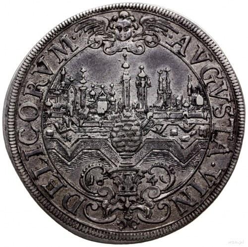 talar 1641; moneta z tytulaturą Ferdynanda III, Aw: Pop...