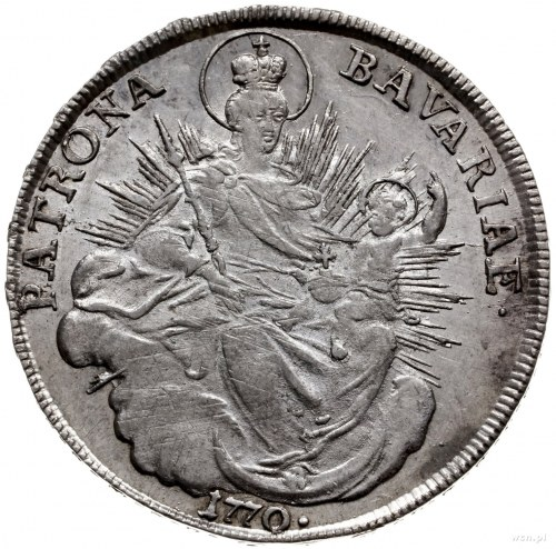talar 1770 / A, Amberg; Dav. 1954; srebro 27.96 g; bard...