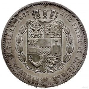 talar 1867, Berlin; wybity na 25-panowania; AKS 55, Dav...
