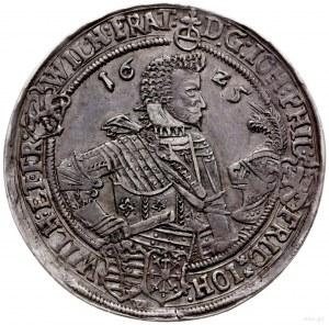talar 1625, Saalfeld; na awersie znak mincerski WA; Dav...