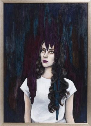 Aneta Biel, Portret kobiecy z cyklu Między nocą a dniem, 2017