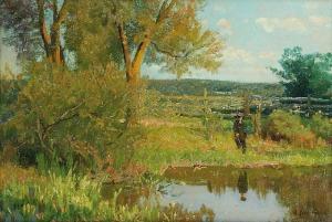 Walery BROCHOCKI (1847-1923), Wędkarz