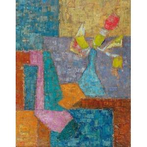 Franciszek CZEKAJ (1923-1979), Kompozycja - Martwa natura z kwiatami