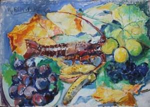 Roman Biliński (1897-1981), Homar z winogronami (1969)