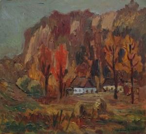 Jerzy Gnatowski (1928-2012), Pejzaż jesienny (1987)