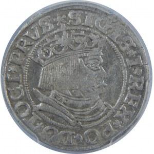 Zygmunt I Stary, Grosz 1532, Toruń, PCGS AU58