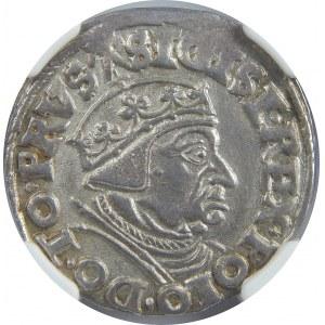 Zygmunt I Stary, Trojak 1538, Gdańsk, NGC MS63