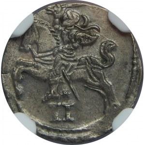 Zygmunt II August, Dwudenar 1567, Wilno, NGC AU58