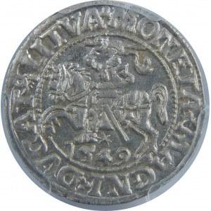 Zygmunt II August, Półgrosz 1549, Wilno, PCGS MS63