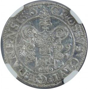 Stefan Batory, Grosz 1579, Gdańsk, NGC MS65, z gwiazdką