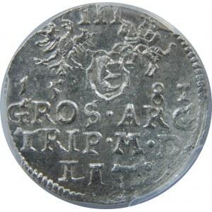 Stefan Batory, Trojak 1581, Wilno, PCGS MS62